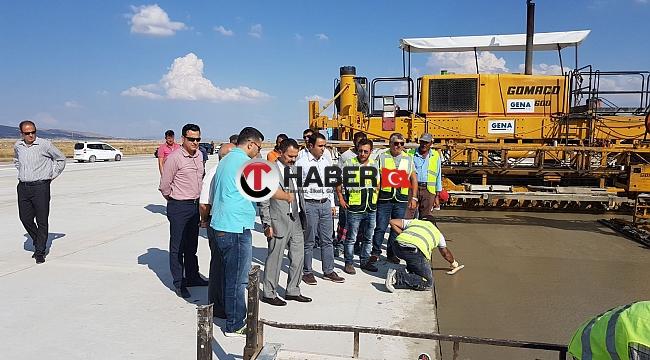 Nevşehir Valisi Kapadokya Hava Limanında İncelemelerde Bulundu