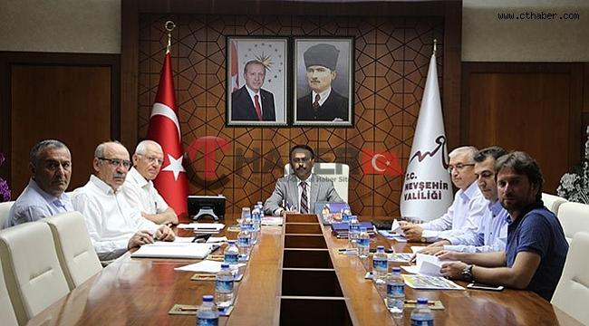 KAP-HİB Toplantısı Nevşehir Valiliğinde Yapıldı