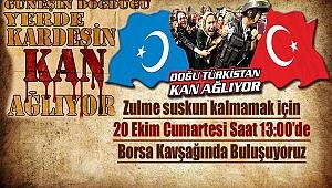 Nevşehir Doğu Türkistan için yürüyecek